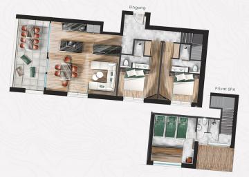 Floor plan Adler Chalet s'Gmialti Apartment